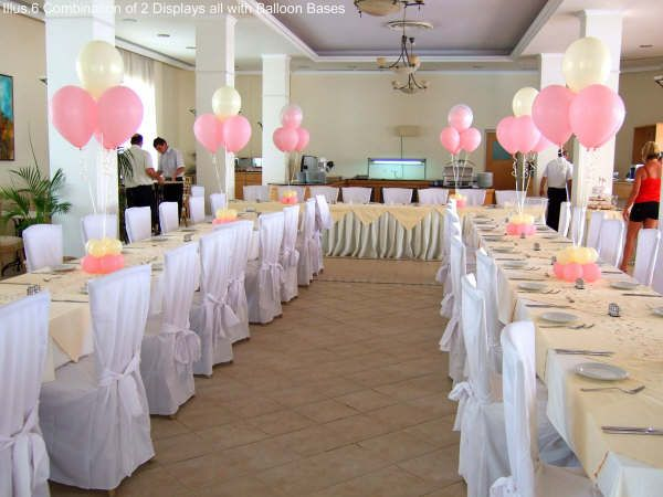 if you want to have a funny wedding decoration look youd better consider having funny wedding decoration with balloons with various colors of balloons