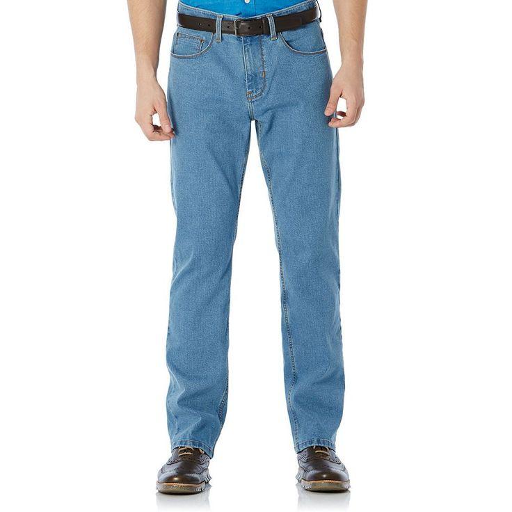 Big & Tall Savane Straight-Fit Active Flex Denim Pants, Men's, Size: 36X36, Turquoise/Blue (Turq/Aqua)