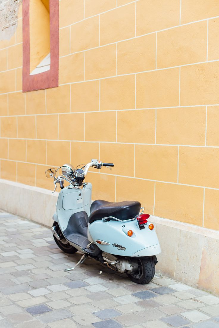 Cute pastel blue Vespa - Ever fancied visiting Budapest? I've sharing how we spent 72 hours in the city, including colourful ruin pubs and Wes Anderson inspired eateries.