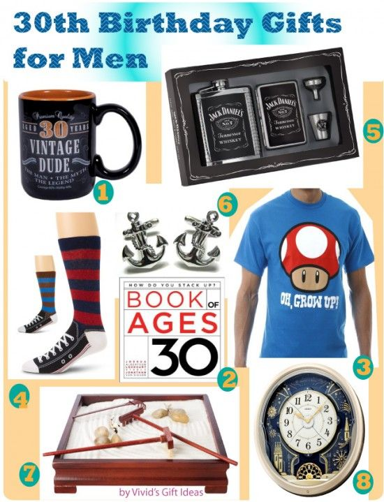 30 gifts for 30th birthday male