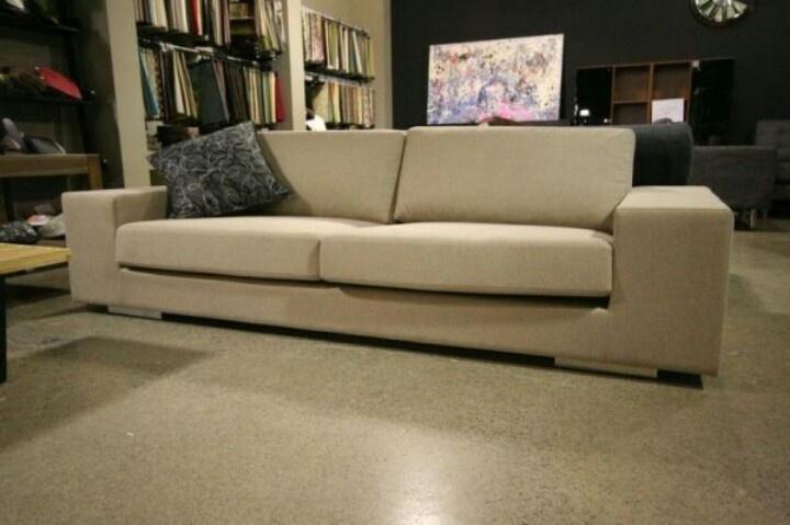 Camel tri-blend sofa