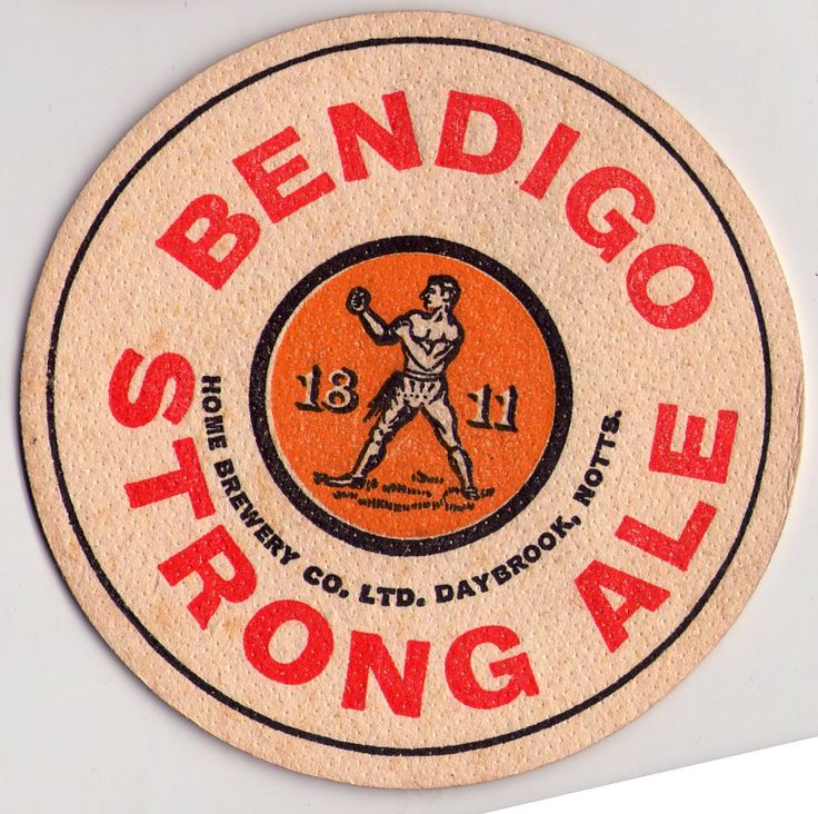 British Beer mats, Home Brewery, Notts, Bendigo Strong Ale