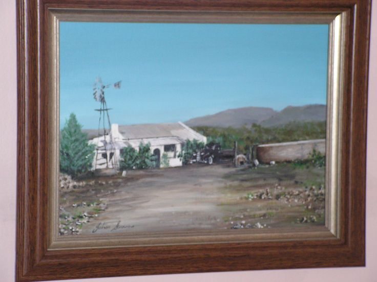 Agrylic on canvas - Dwergies hoogte - My belated grandfathers farm in Grootdrink South Africa.