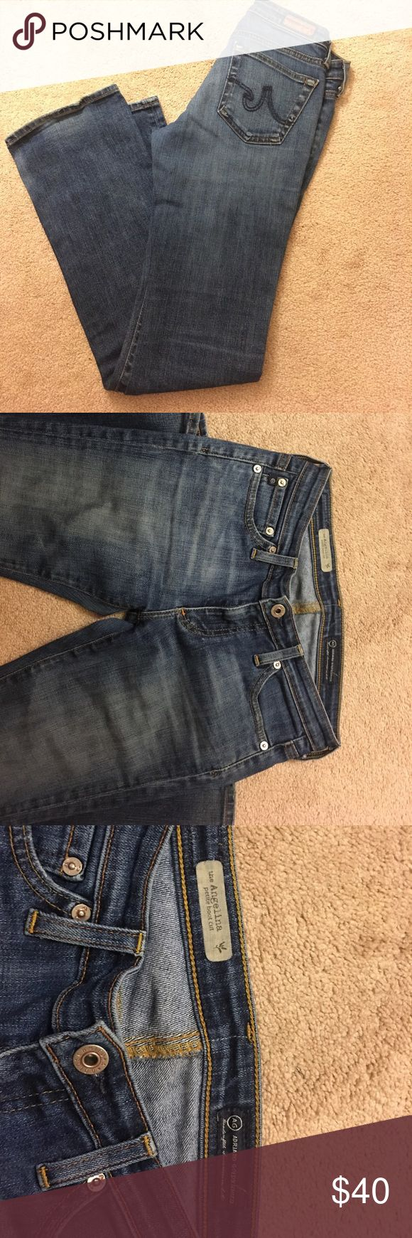 AG  woman jeans Adriano Goldschmied jeans , petite boot cut in size 26 , very beautiful comfortable material, pictures showing all defect , please let me know if you have any questions. Ag Adriano Goldschmied Pants Boot Cut & Flare