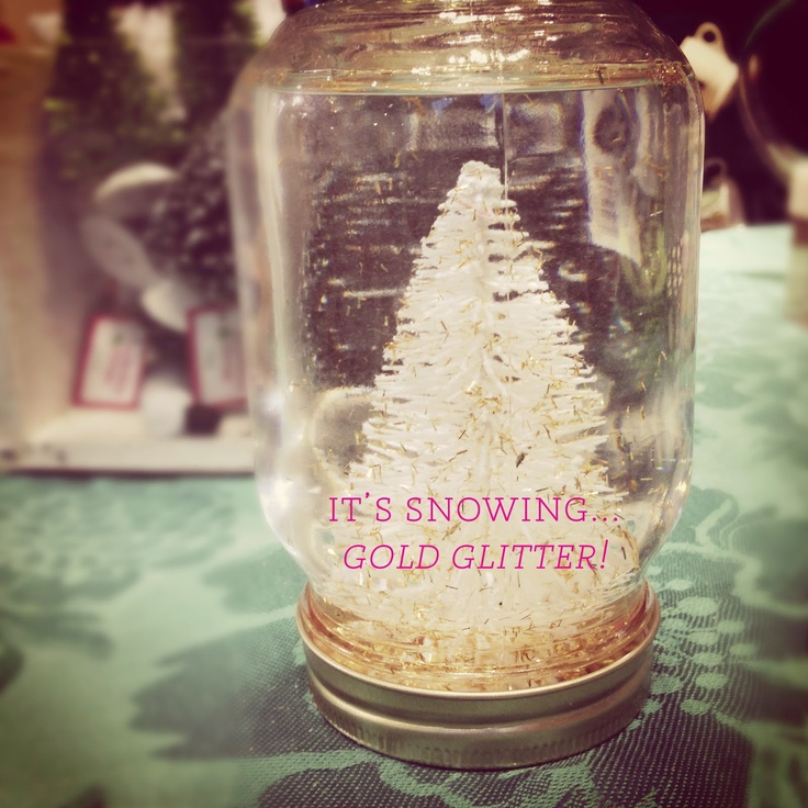 snow globes DIY with anthropologie