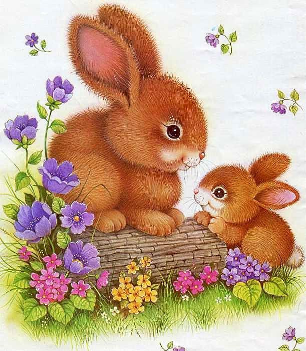 чайки картинка маленький зайчонок улыбнулся маме осенней