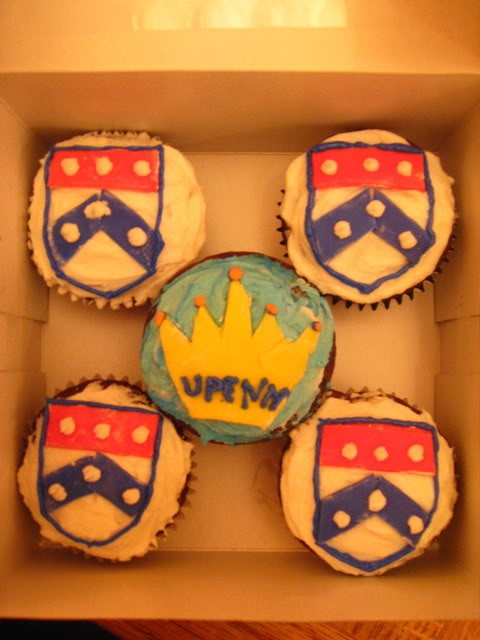 UPenn Cupcakes...someone want to make these for my birthday?(: