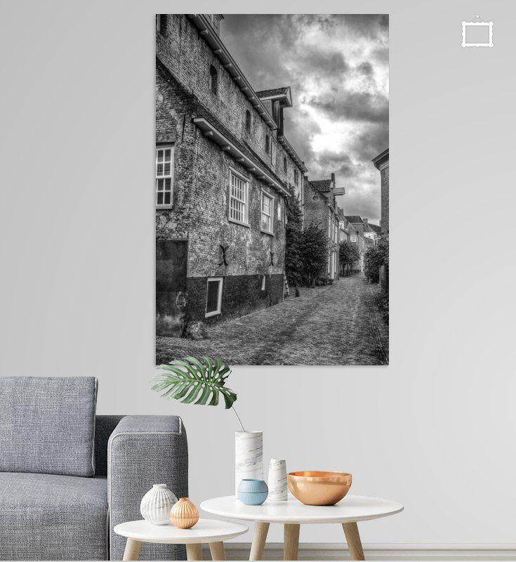 Nieuw in mijn Werk aan de Muur shop: Muurhuizen historisch Amersfoort zwartwit