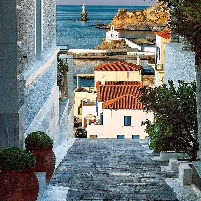 Chora Andros Island, Greece  #andros #island #greekislands #greece   Photo By: @k.chrissanthopoulos