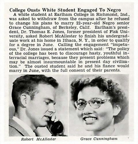 Refusing interracial marriage