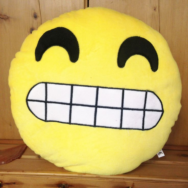 Grinning Teeth Face Emoji Cushion - yourgifthouse