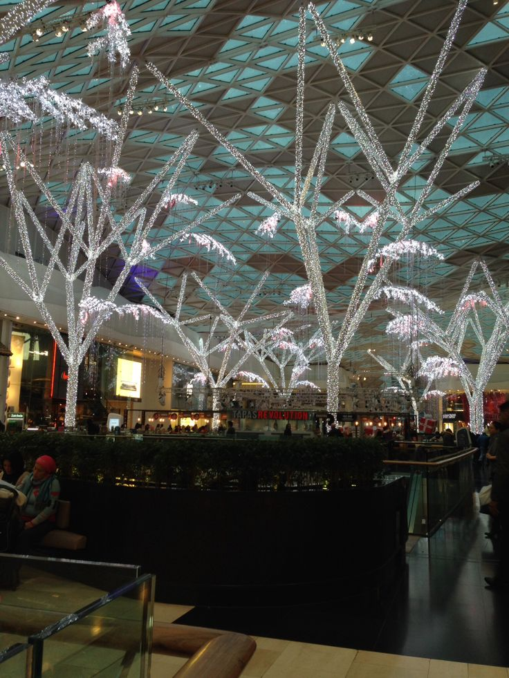 Westfield shopping centre at Christmas
