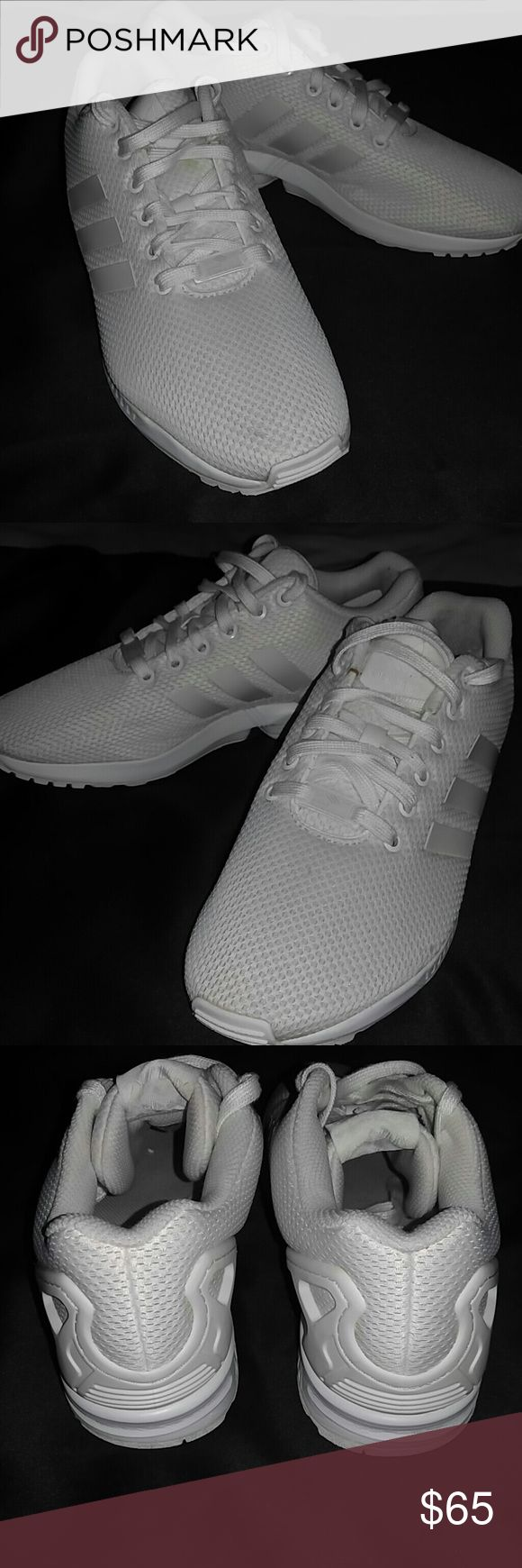 ADIDAS TORSION ZX FLUX EXCELLENT, practically brand new, used condition. All white. Adidas Shoes Sneakers