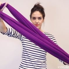 18 Ways to Tie a Scarf—Demoed with GIFs - The Loop Through  - from InStyle.com