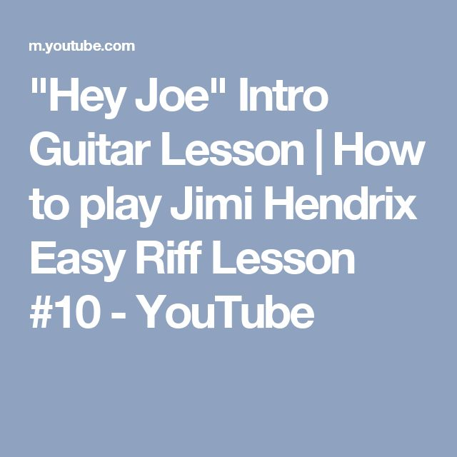 """Hey Joe"" Intro Guitar Lesson 