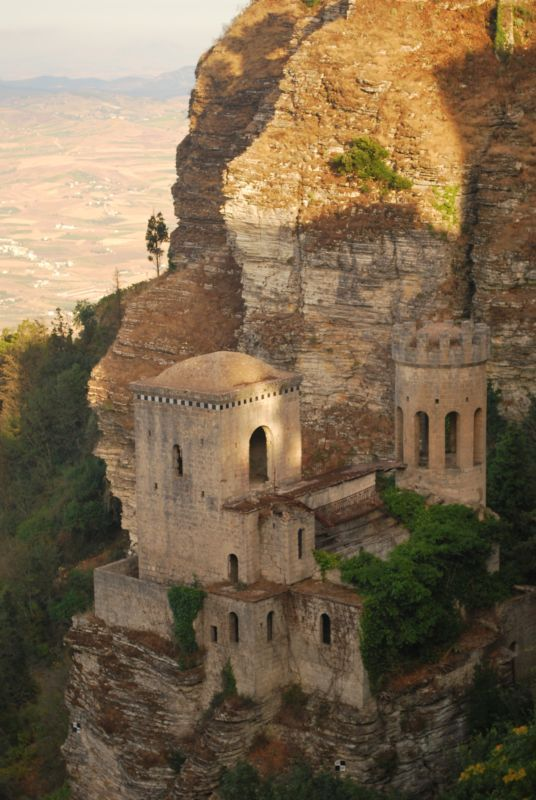 Erice Castle ~ Trapani, Sicily, Italy~We stayed here after a swim meet in an old convent on top of a cliff...it was breathtaking!