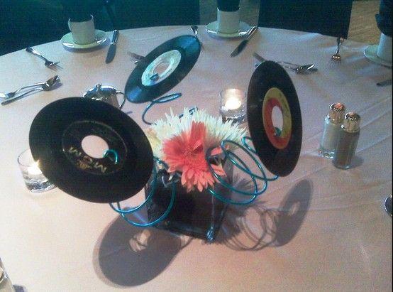 Record centerpiece wedding ideas pinterest centerpieces for Record decoration ideas