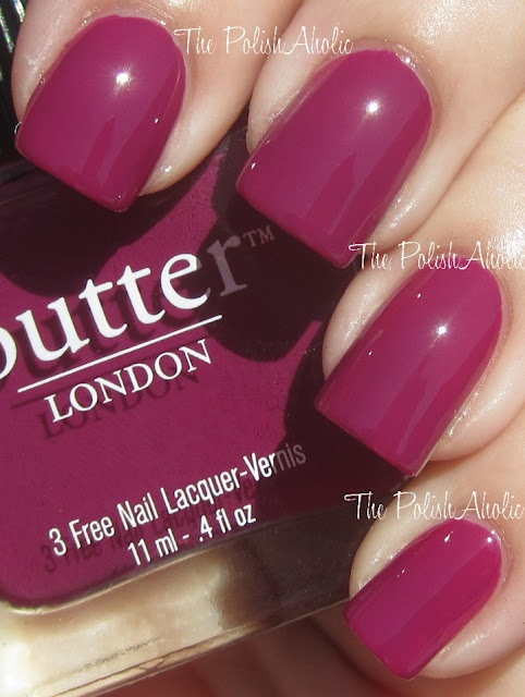 The PolishAholic: Butter London Queen Vic Lacquer & Lippy Swatches
