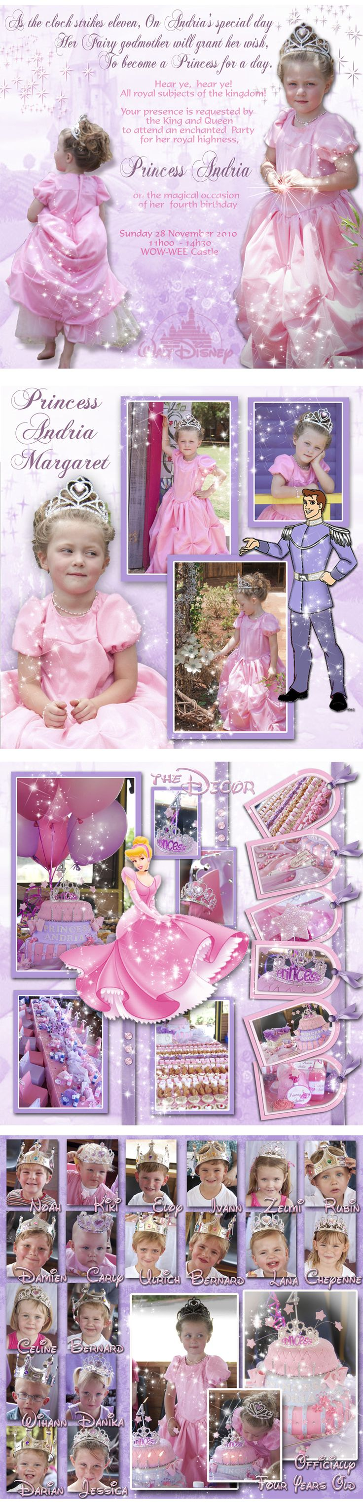 As the clock strikes eleven on Andria's special day ...  Her fairy Godmother will grant her wish to become a princess for the day ...