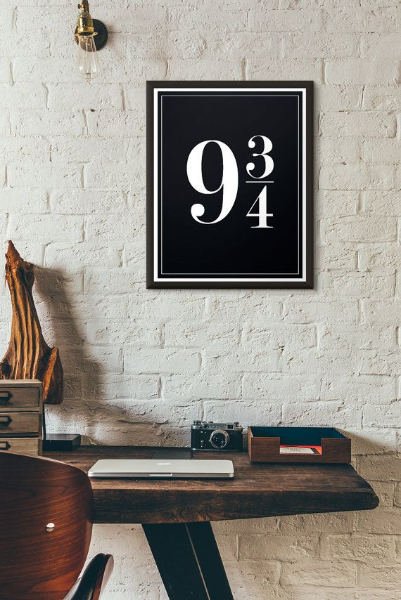 Platform 9 3/4 Harry Potter Decor by DimestoreSaintDesign on Etsy                                                                                                                                                                                 More
