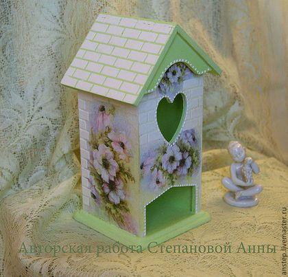 """Кухня ручной работы. Ярмарка Мастеров - ручная работа. Купить Чайный домик """"Заброшенный сад"""".. Handmade. Салатовый,…"""