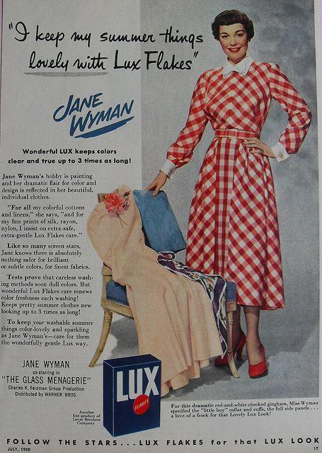 1950s Jane Wyman LUX Detergent Vintage Ad Hollywood by Christian Montone, via Flickr