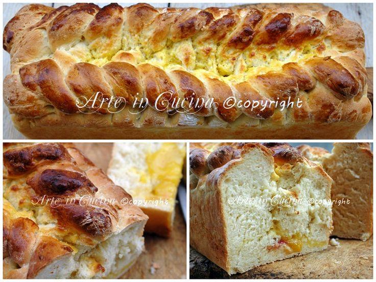 Pan brioche dolce, farcito con lemon curd e pesche, intrecciato, soffice, ideale per la colazione, per feste di compleanno e buffet, ricetta pan brioche dolce