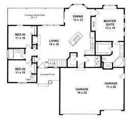 House Plans From 1400 To 1500 Square Feet Page 1 Ranch