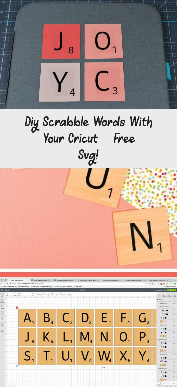 Diy Scrabble Words With Your Cricut Free Svg Scrabble