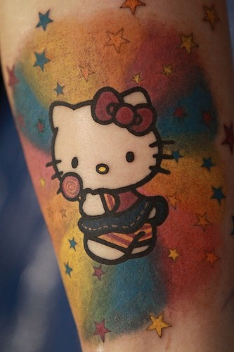 Hello Kitty. background coloring/shading is off the hook!