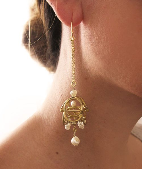 This pair of Earrings has been feutured at Glamour Magazine in UK