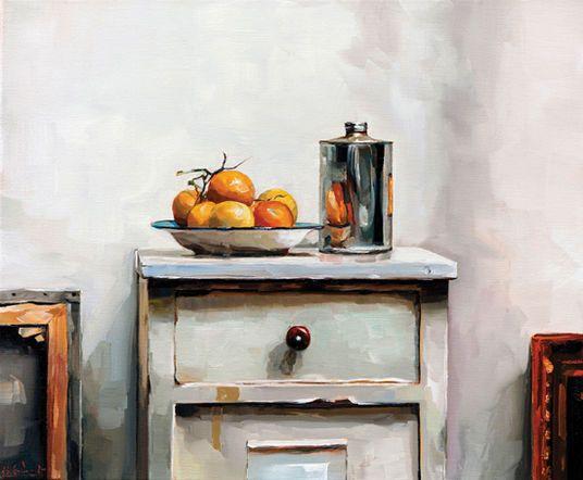 "Edward B. Gordon: Bild ""Gelbe Tomaten"" (Unikat)"