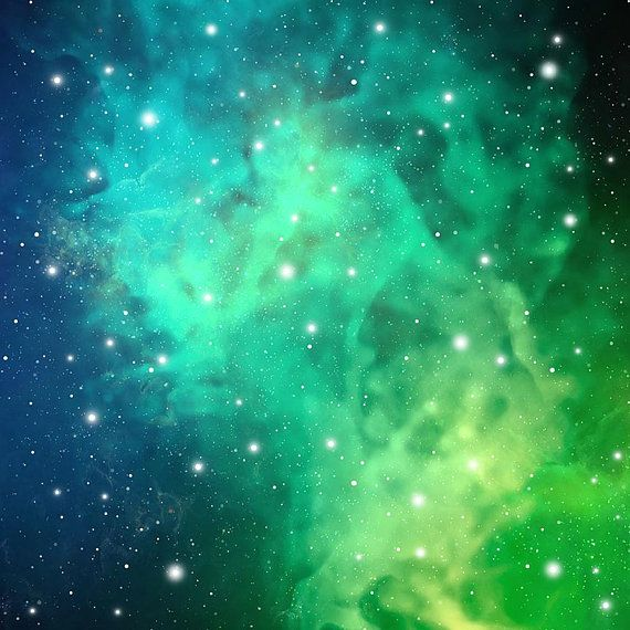 Green Cosmic Background Instant Download Outer Space Etsy In 2020 Galaxy Background Outer Space Pictures Green Aesthetic