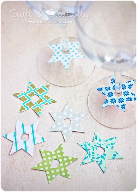 Glass markers by Craft & Creativity - prima nápad, jak si poznat skleničky
