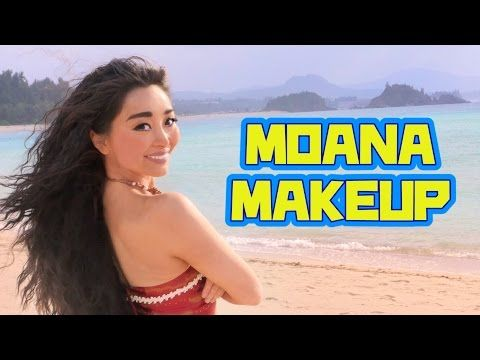 【モアナと伝説の海】モアナメイク/ Disney MOANA Makeup Tutorial [Eng Subs] - YouTube