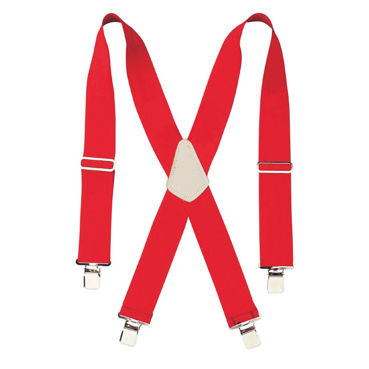 "CLC Work Gear 110RED 2"" Wide Red Work Suspenders"