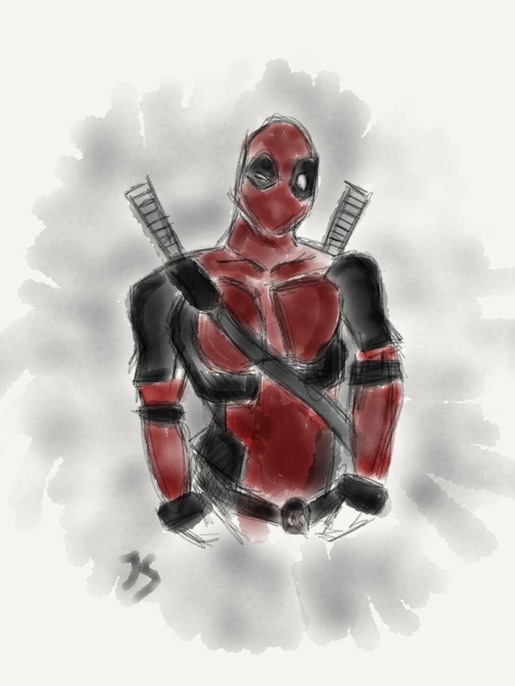 Deadpool #deadpool #marvel  #sketch #drawing