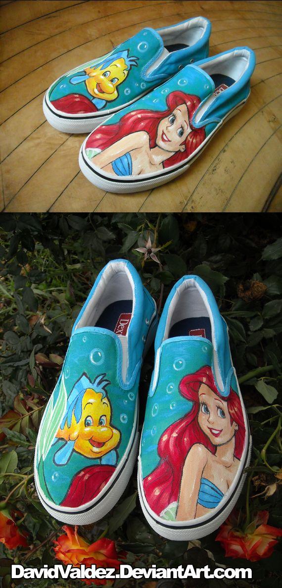 Little Mermaid Shoes by ~DavidValdez on deviantART