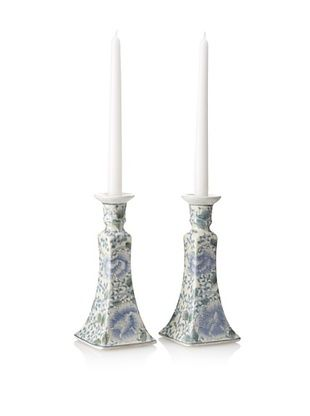 67% OFF Dynasty Gallery Set of 2 Porcelain Candle Holders (Blue/White)