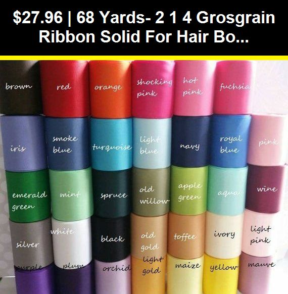 "wholesale 2 1//4 /"" grosgrain ribbon 5 yards for hair bow you pick color"