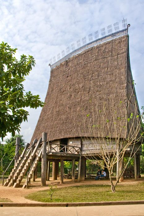 Vietnam ~ A Rong, village meeting house of the Banhar minority in the Central Highlands
