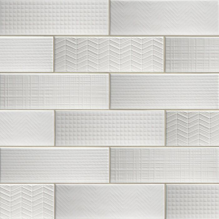 urbano 4 x 12 ceramic subway tile in