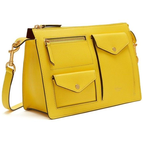 Mulberry Cherwell Satchel ($865) ❤ liked on Polyvore featuring bags, handbags, lemon, square purse, mulberry handbags, satchel style handbag, square handbags and yellow bags