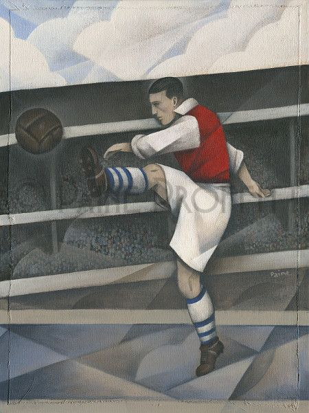 Great news ! Arsenal FC - High... now available online at http://www.bwsportsart.com/products/arsenal-fc-highbury-saturday-original-art-by-paine-proffitt?utm_campaign=social_autopilot&utm_source=pin&utm_medium=pin  #sports #art