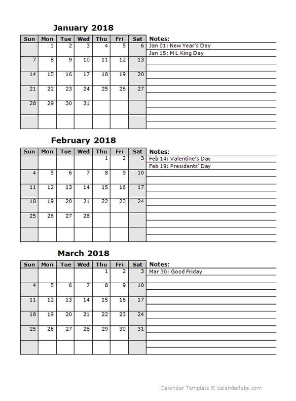 9 best 2018 calendar images on Pinterest Big day, Budget binder