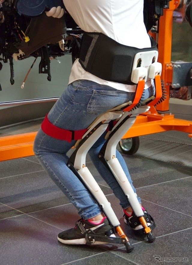 "Audi testing carbon-fiber exoskeleton ""chairless chair"" for assembly workers"