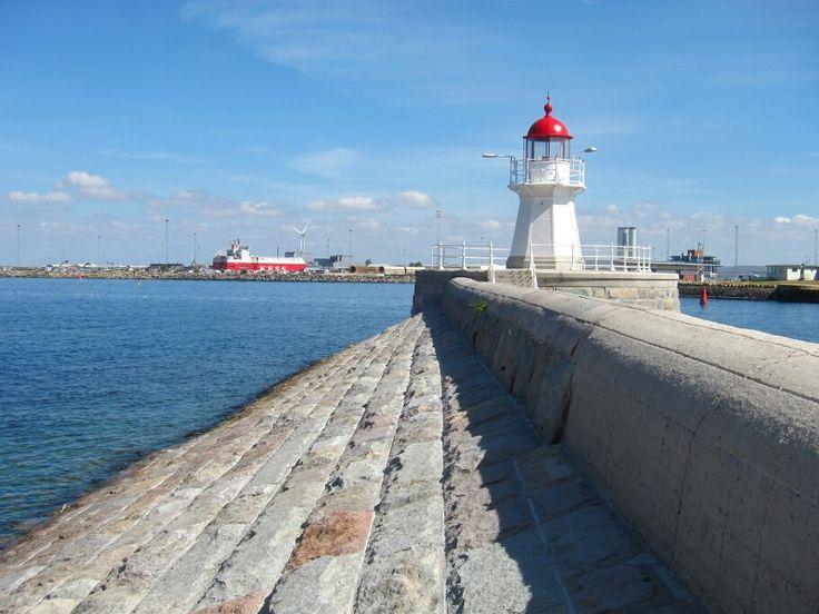 Lighthouse in Malmö Harbor
