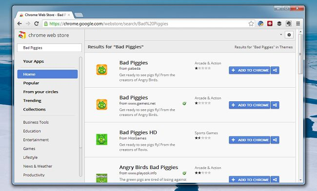 La Chrome Web Store tampoco se libra del adware: 82.000 usuarios infectados por versiones falsas de Bad Piggies  http://www.genbeta.com/p/72046