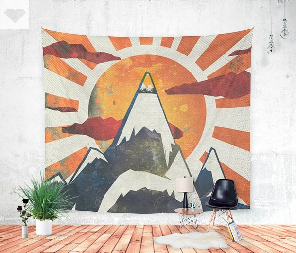 Mount Spitfire! Latest #walltapestry made available at Society6    #homedecor #art #design