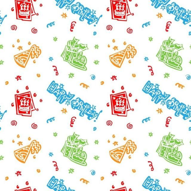 Colorful Happy Birthday Pattern Background Pattern Background